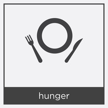Hunger Icon Isolated On White ...