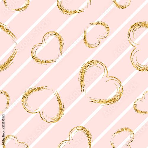 zlote-serce-wzor-bialo-rozowe-geometryczne-paski-zlote-grunge-konfetti-serca-symbol-milosci-walentynki-wakacje-projekt-tapeta