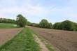 Ackerland vor Anbau im Frühling