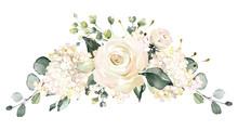 Watercolor Flowers. Floral Il...