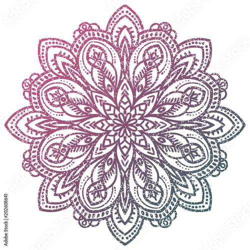 Photo  Colorful grunge flower mandala