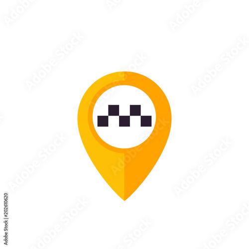 Taxi pointer, pin vector logo Poster Mural XXL