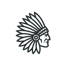 American Native Chief Head Ico...