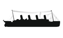 Drawing Silhouette Of Titanic ...