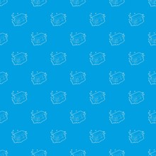 Wet Cleaning Pattern Vector Seamless Blue Repeat For Any Use
