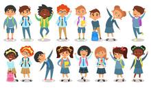 School Children Of Different ...