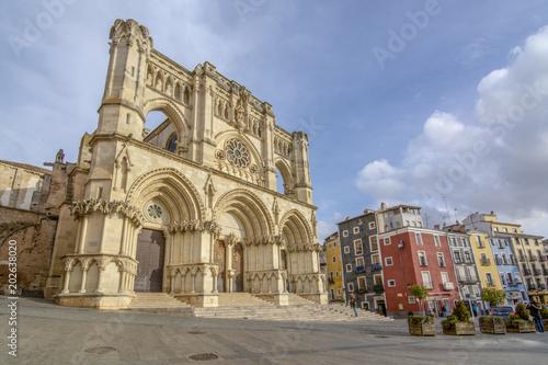 Fachada gotica de la catedral de Cuenca, Castilla la Mancha España