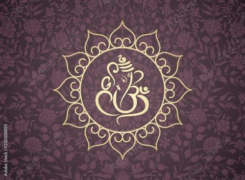 Fotomural Ganesha, wedding card, royal Rajasthan, India