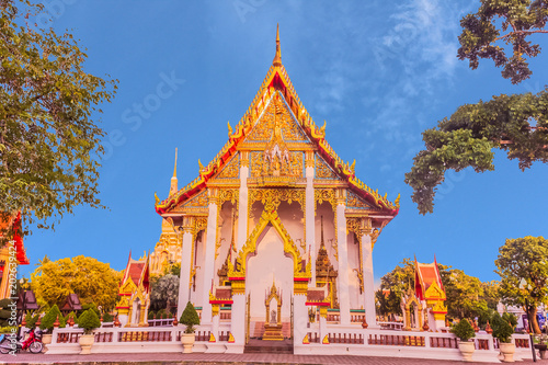 Staande foto Temple Thai Buddhist church of Chalong temple, Phuket, Thailand. It is the famous destination for tourists over the world