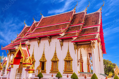 Foto op Aluminium Temple Thai Buddhist church of Chalong temple, Phuket, Thailand. It is the famous destination for tourists over the world