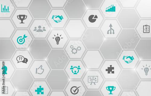 Ilustracja wektorowa koncepcja pracy zespołowej - współpraca, cele, networking, strategia