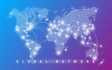 Global Network, Worldwide Communication And Connections, Interna