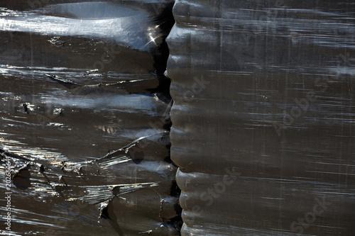 Valokuva  Black nylon foil