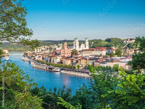 Foto auf AluDibond Europäische Regionen Stadtansicht von Passau in Bayern