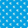 Hammer clamping mites pattern vector seamless blue repeat for any use