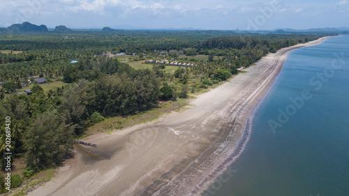 Staande foto Blauwe jeans aerial view landscape of Koh Lanta , Krabi Thailand