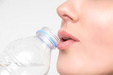 Woman Drinks Water From The Bo...