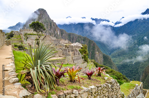 Photo  The lost city of Machu Picchu. Cuzco , Peru