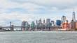 Brooklyn and Manhattan bridge and Manhattan skyline