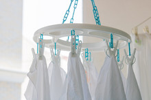 Baby Cotton Diapers Hanging On...