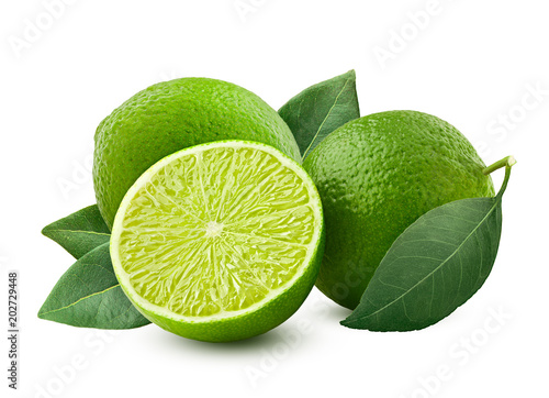lime isolated on white background, clipping path, full depth of field Poster