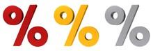 Percent Sign 3d Percentage Sym...