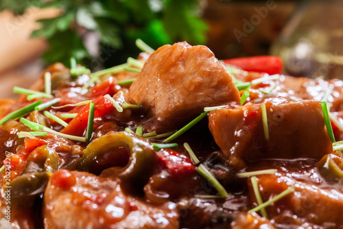 Carta da parati Chicken in sweet and sour sauce