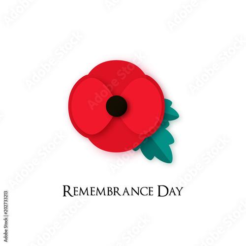 Fotomural Poppy flower Illustration for Remembrance Day