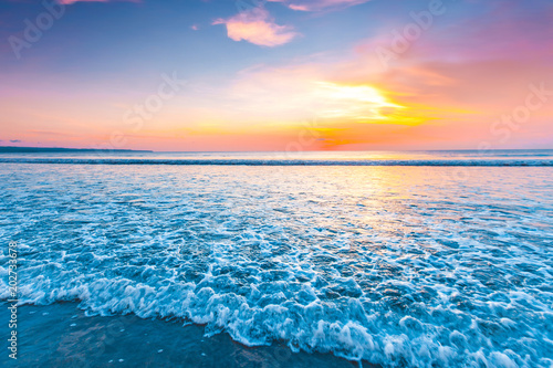 Foto op Aluminium Bali Radiant sea beach sunset