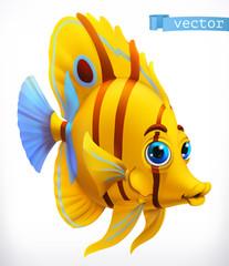 Śmieszne tropikalne ryby. Ikona wektor 3D