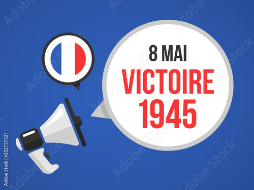 Poster  Victoire 1945 - 8 mai