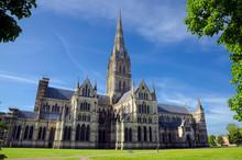 Salisbury Cathedral, In Spring Season, Salisbury, England