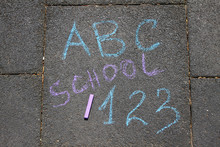 School, ABC Letters And 123 Si...