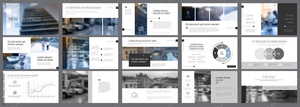 Fototapeta Snapshots of business presentation template