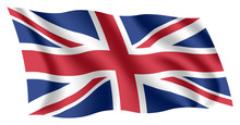 Britain Flag. Isolated Nationa...