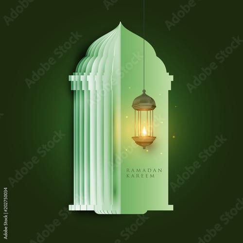 Ramadan kareem islamic beautiful design template  Mosque, lantern