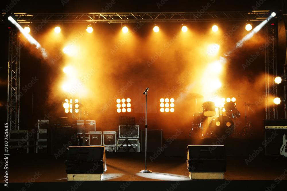 Fototapeta empty ready concert stage