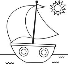 Black And White Sail Vector Il...