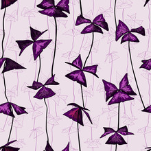 Seamless Pattern With Oxalis T...