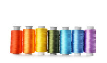 Color Sewing Threads On White ...