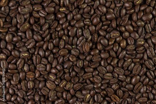 Deurstickers koffiebar coffee beans background