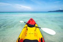 Colorful Kayak On The Tropical...