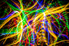 Abstract Light Painting Background Images, Colorful Log Exposure Images Of Light Streaks.