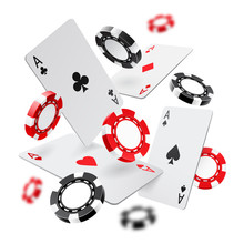 Falling Aces And Casino Chips ...