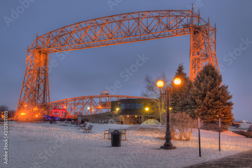 Fotografie, Obraz  Canal Park is a popular tourist Destination in Duluth, Minnesota on Lake Superio