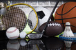 Group of sports equipment