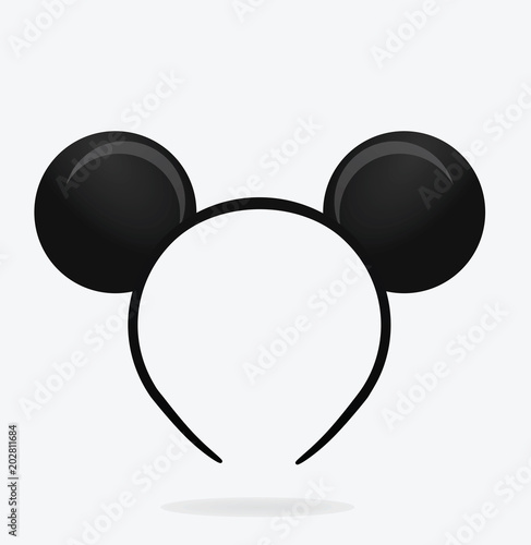 Round ears mask. vector illustration Wall mural