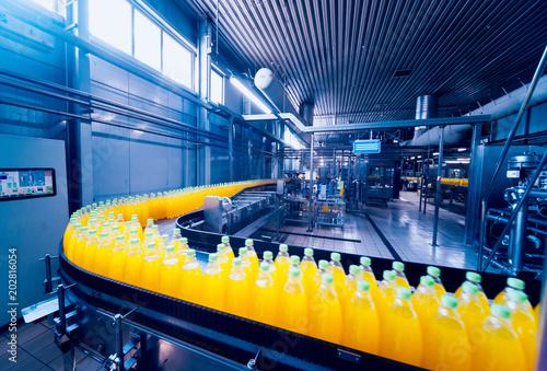 Stampa su Tela Beverage factory interior