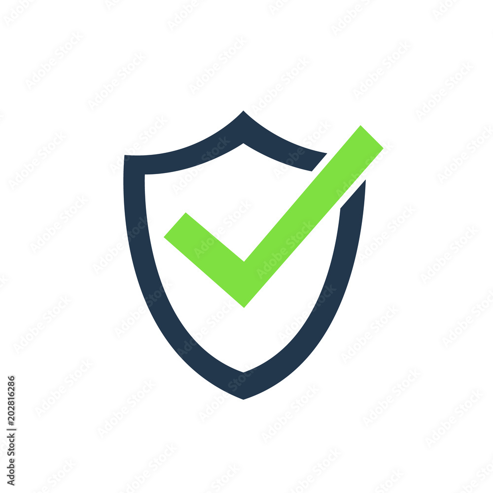 Fototapeta Tick mark approved icon vector illustration on white background.