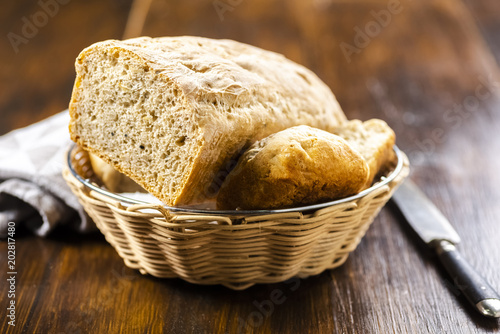 Foto op Plexiglas Brood Homemade bread - tasty and healthy - without any enhancers